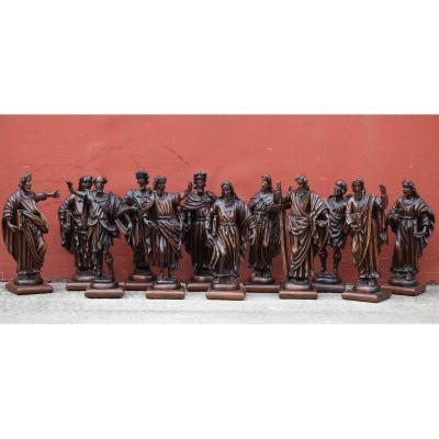 Italian School Of The XVIIIth, Series Of 12 Apostles.
