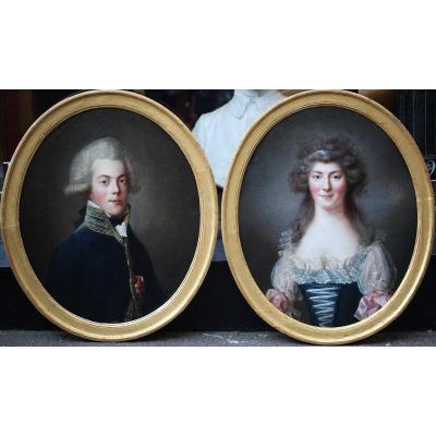 Paire Portraits Directoire