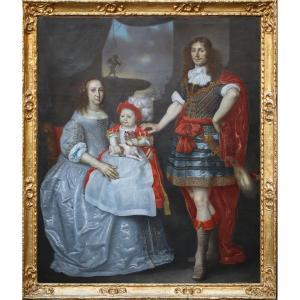 Herkules Sanders 1606-1673,  Portrait De Famille.