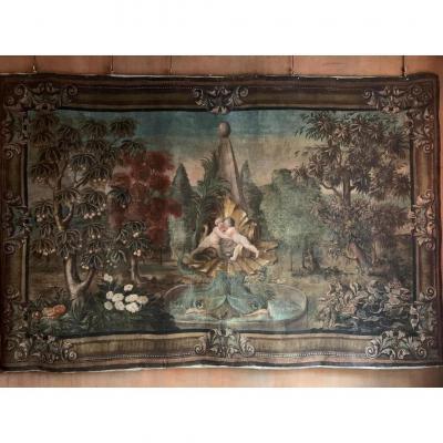 Toile peinte, fin XVII siècle