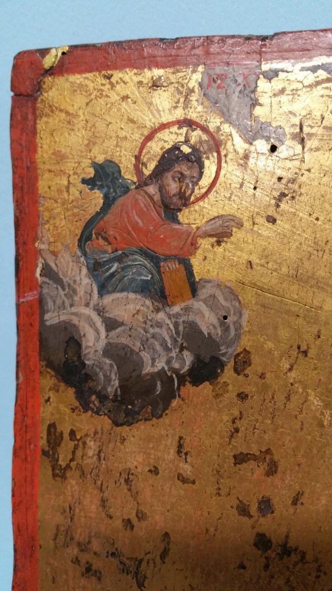 Icone Représentant Une Sainte (eulalia?), XIX Siecle-photo-1