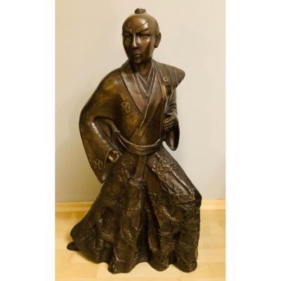 Okimono Samurai Bronze - Meiji Period - Japan