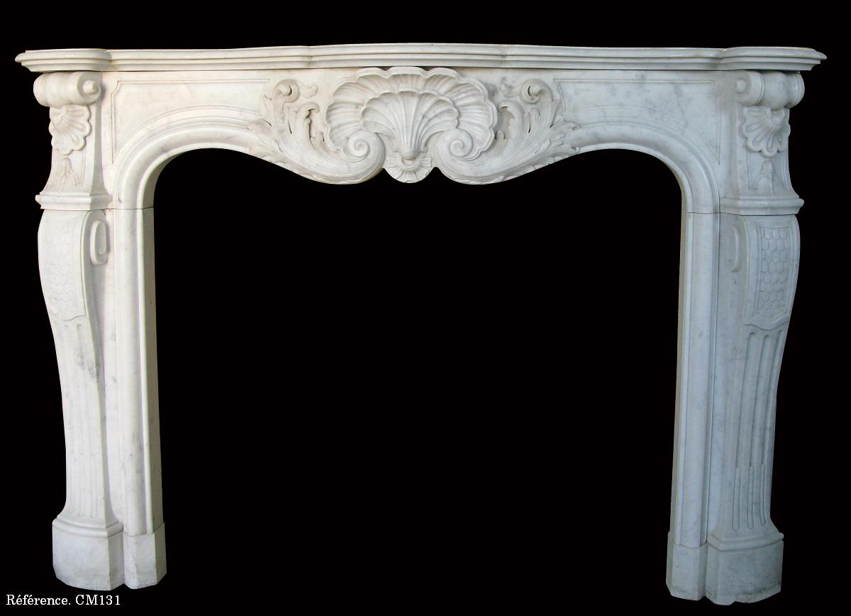 White Marble Fireplace Louis XV Style
