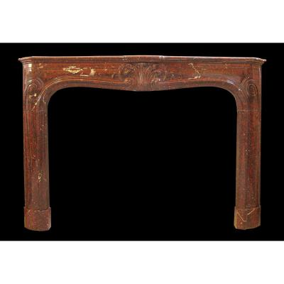 Louis XV Marble Fireplace Nineteenth Century
