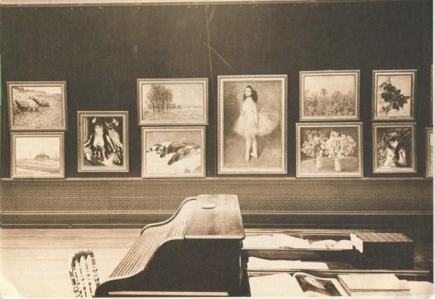 exposition d' impressionnistes organisée par la Galerie Durand-Ruel