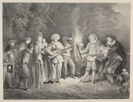 Charles-Nicolas Cochin d'après Watteau