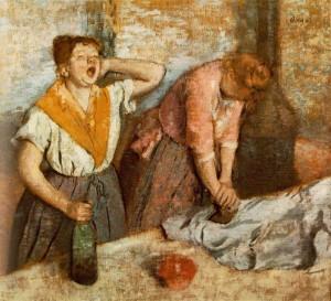 """""""Les Repasseuses"""" Edgar Degas"""