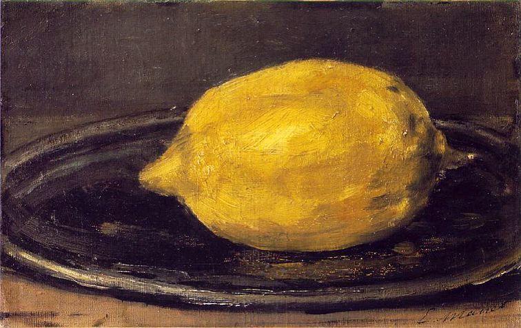"""""""Le citron"""" Edouard Manet"""