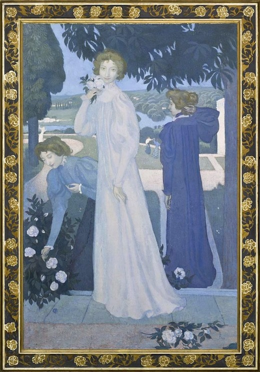 Maurice Denis (1870-1943) Portrait d'Yvonne Lerolle en trois aspects, 1897 Huile sur toile, 170 x 110 cm, Paris, musée d'Orsay © Musée d'Orsay, dist. RMN-Grand Palais / Patrice Schmidt