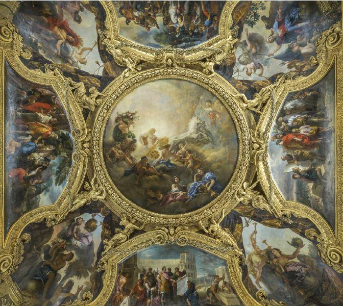 Plafond du salon d'Apollon © château de Versailles, C. Fouin