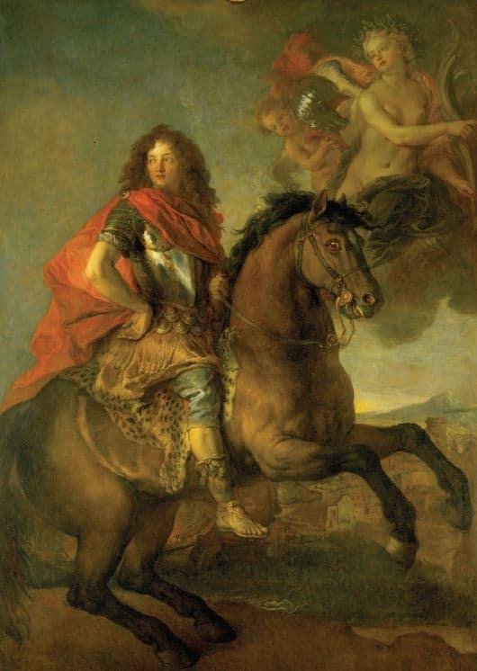 Charles de La Fosse Portrait équestre d'Armand-Jean de Vignerod du Plessis, Duc de Richelieu Huile sur toile (c) musée des Beaux-Arts, G Dufresnes