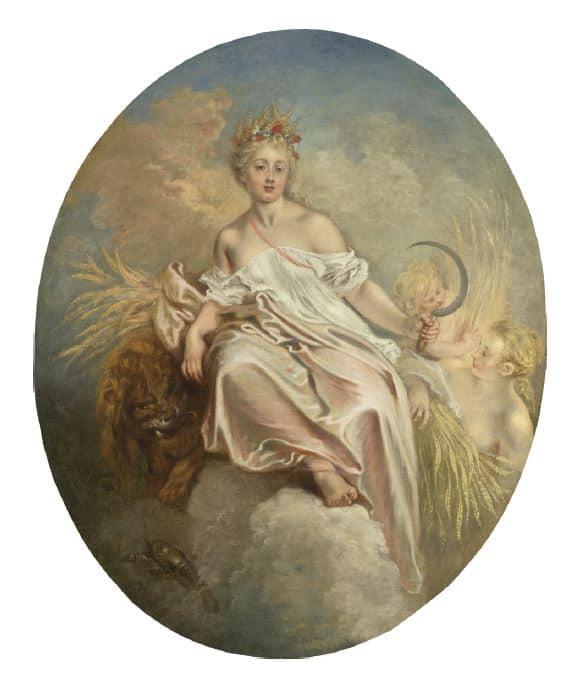 Jean-Antoine WATTEAU Cérès ou L'Allégorie de l'Eté Huile sur toile © National Gallery, Washington