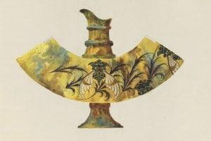 Accrochage de dessins d'arts décoratifs au musée d'Orsay