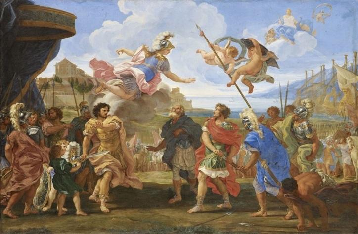 Giovanni Battista GAULLI, dit Il Baciccio, La Querelle d'Achille et d'Agamemnon,