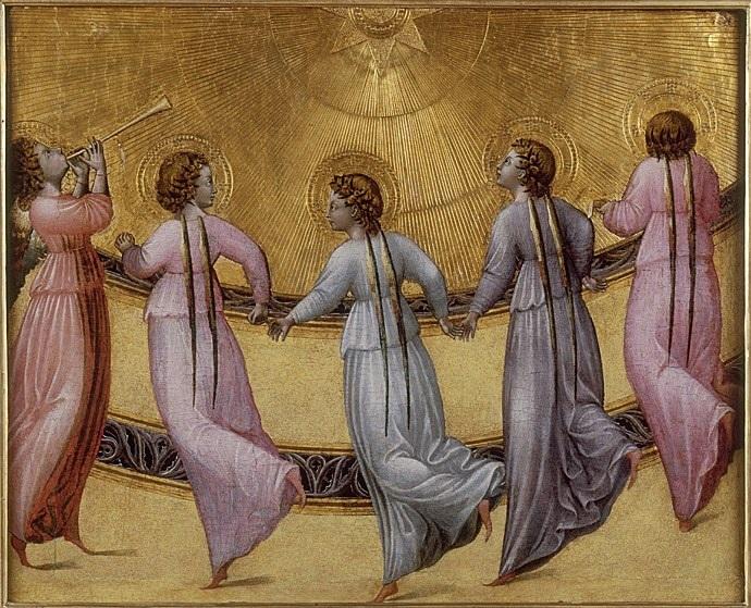 Cinq anges dansant au pied d'un trône, giovanni di PaoloI.