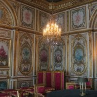 La salle du conseil du château de Fontainebleau